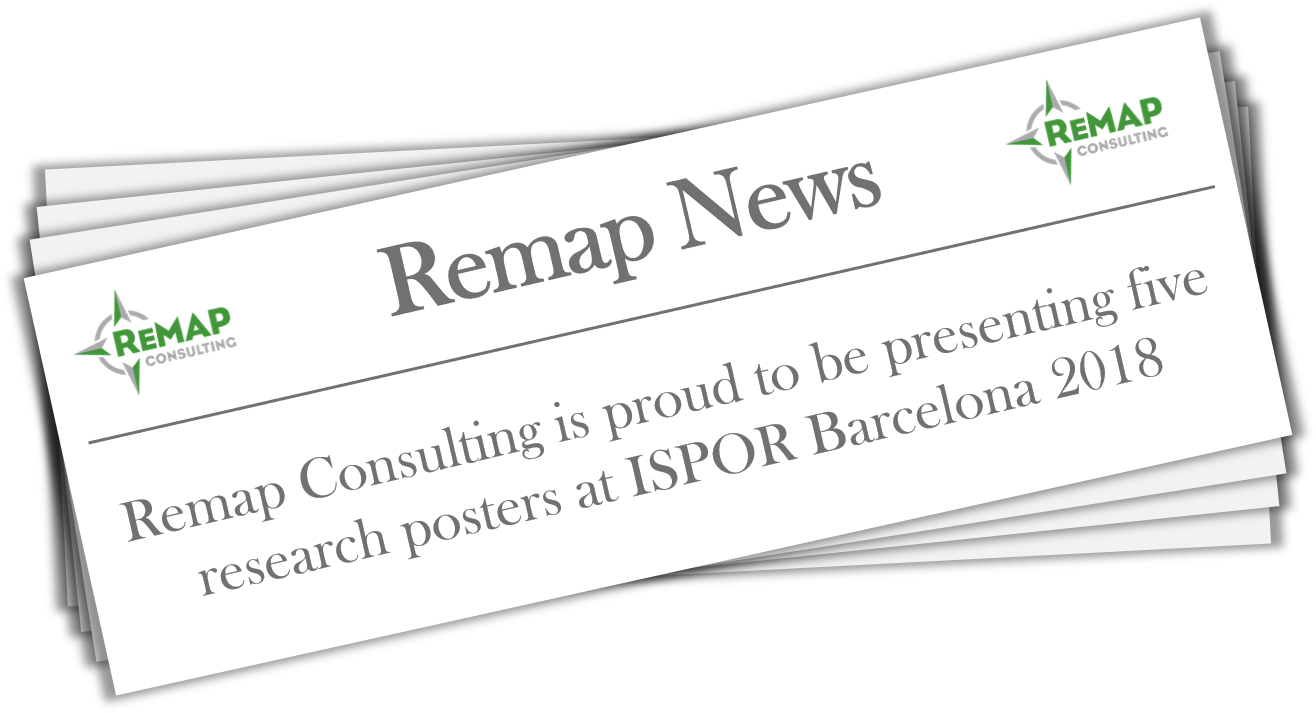 Remap Consulting presenting five posters at ISPOR Barcelona 2018