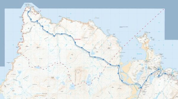 Cape Wrath Challenge Map
